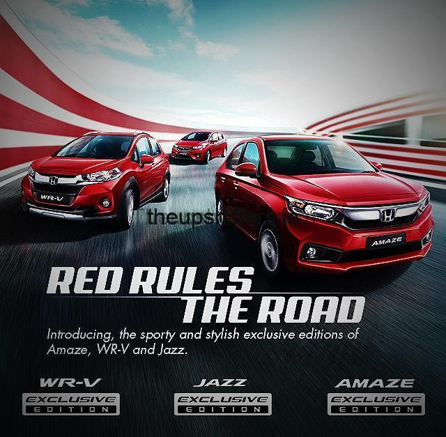 Honda Cars India introduces Exclusive Editions of Amaze, Jazz and WR-V
