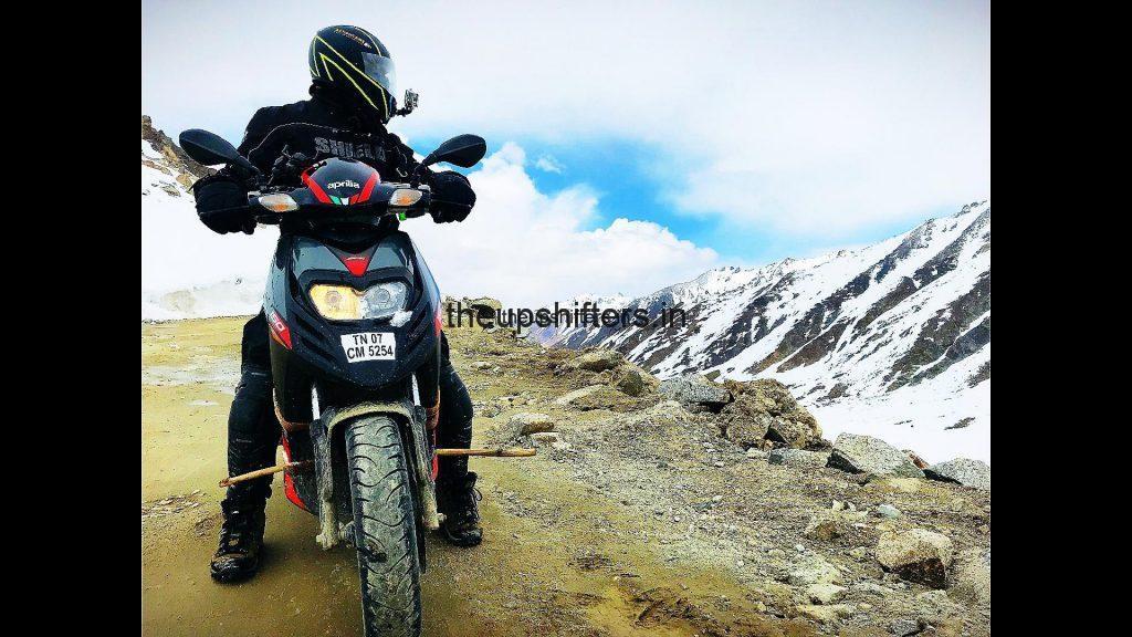 Nagarajan Adithya does  10,000 km in 40 days on Aprilia SR 150