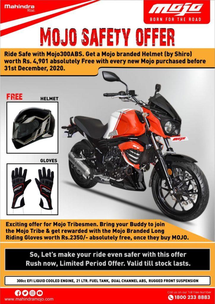 Mahindra Mojo 300ABS BSVI Safety offer