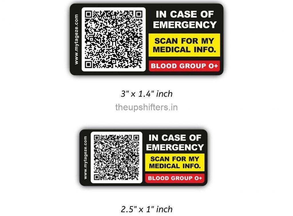 MyTageze Medical ID Sticker