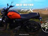 Yamaha FZ-X review -Yamaha's 1st Neo-Retro scrambler offering for India